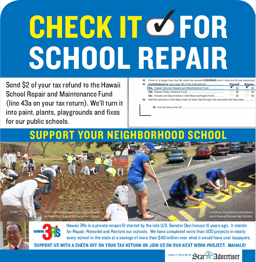 CHECK IT FOR SCHOOL REPAIR